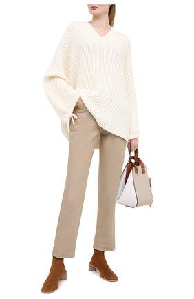Женская пуловер MSGM белого цвета, арт. 2941MDM118 207793 | Фото 2