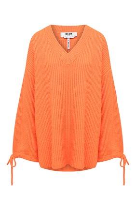 Женская пуловер MSGM оранжевого цвета, арт. 2941MDM118 207793 | Фото 1