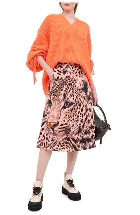 Женская пуловер MSGM оранжевого цвета, арт. 2941MDM118 207793 | Фото 2