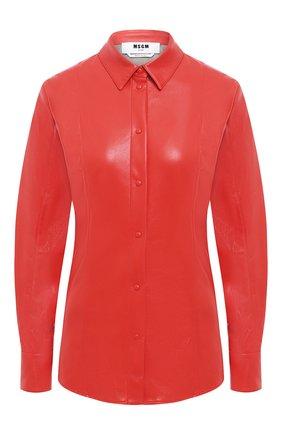 Женская рубашка MSGM красного цвета, арт. 2941MDE19 207652 | Фото 1