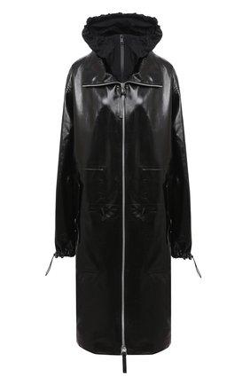 Женское кожаное пальто BOTTEGA VENETA черного цвета, арт. 633444/VKLC0 | Фото 1