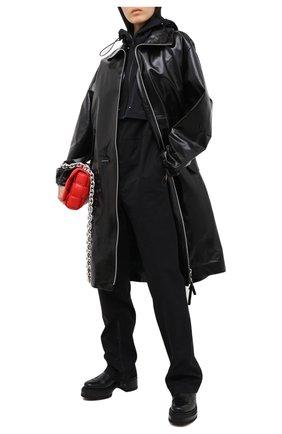 Женское кожаное пальто BOTTEGA VENETA черного цвета, арт. 633444/VKLC0 | Фото 2