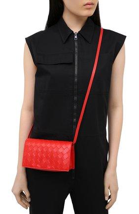 Женская сумка BOTTEGA VENETA красного цвета, арт. 630547/VCPP3 | Фото 2
