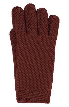 Женские кашемировые перчатки LORO PIANA бордового цвета, арт. FAA1252 | Фото 1