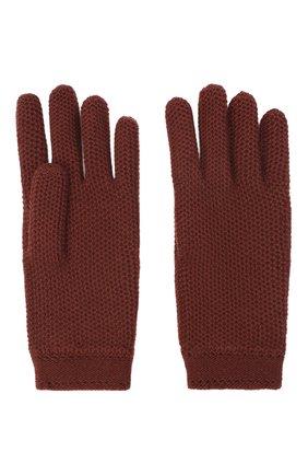 Женские кашемировые перчатки LORO PIANA бордового цвета, арт. FAA1252 | Фото 2