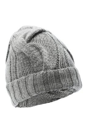 Женский кашемировая шапка courchevel LORO PIANA серого цвета, арт. FAI5490 | Фото 1