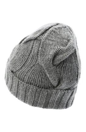 Женский кашемировая шапка courchevel LORO PIANA серого цвета, арт. FAI5490 | Фото 2