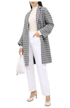 Женское пальто из шерсти и кашемира LORO PIANA голубого цвета, арт. FAL2993 | Фото 2