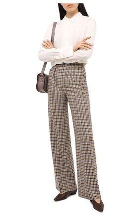 Женские кашемировые брюки LORO PIANA бежевого цвета, арт. FAL3078 | Фото 2