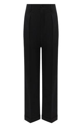 Женские шерстяные брюки SAINT LAURENT черного цвета, арт. 627259/Y221W | Фото 1