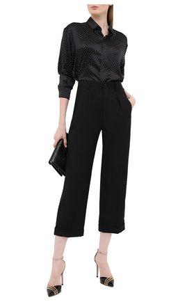 Женские шерстяные брюки SAINT LAURENT черного цвета, арт. 627259/Y221W | Фото 2