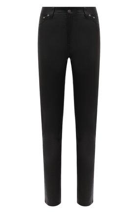 Женские кожаные брюки POLO RALPH LAUREN черного цвета, арт. 211765887 | Фото 1