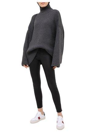 Женские кожаные брюки POLO RALPH LAUREN черного цвета, арт. 211765887 | Фото 2