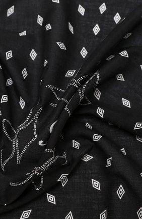Женский хлопковый платок POLO RALPH LAUREN черного цвета, арт. 455816598 | Фото 2