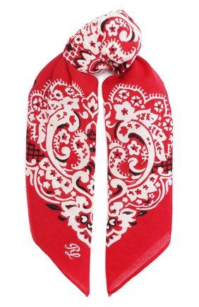 Женский хлопковый платок POLO RALPH LAUREN красного цвета, арт. 455816598 | Фото 1