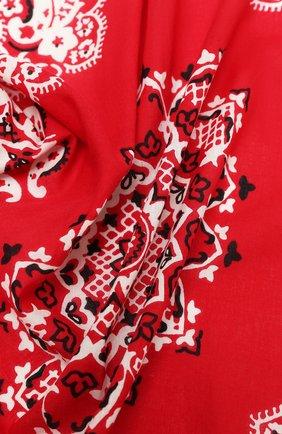 Женский хлопковый платок POLO RALPH LAUREN красного цвета, арт. 455816598 | Фото 2