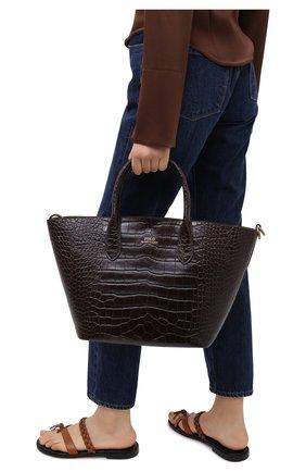 Женская сумка-тоут POLO RALPH LAUREN темно-коричневого цвета, арт. 428751507 | Фото 2