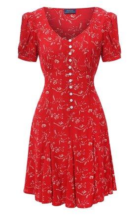 Женское платье из вискозы POLO RALPH LAUREN красного цвета, арт. 211808100 | Фото 1