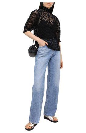 Женская хлопковая блузка POLO RALPH LAUREN черного цвета, арт. 211801108 | Фото 2