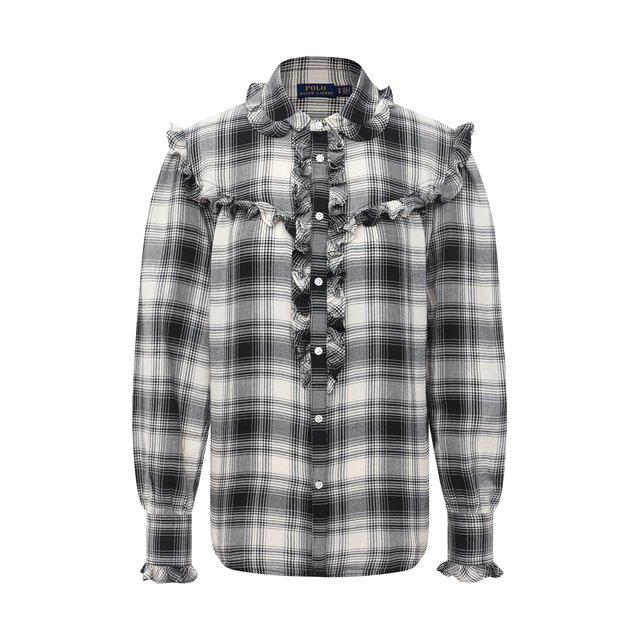 Рубашка из хлопка и вискозы Polo Ralph Lauren