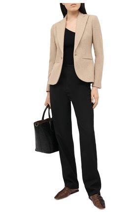 Женский жакет из шерсти и шелка POLO RALPH LAUREN коричневого цвета, арт. 211800847 | Фото 2