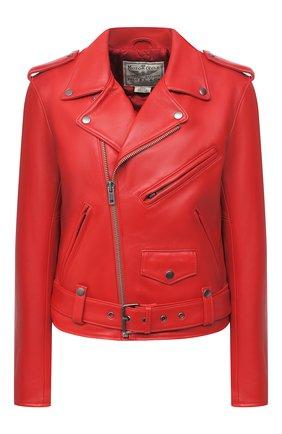 Женская кожаная куртка POLO RALPH LAUREN красного цвета, арт. 211753241 | Фото 1