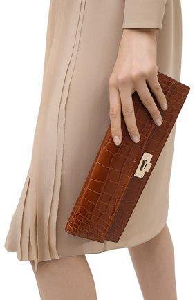 Женский клатч hinge RALPH LAUREN коричневого цвета, арт. 435821207 | Фото 2