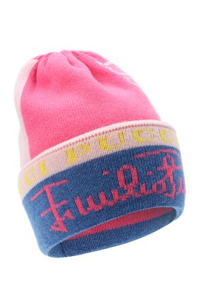 Женский шерстяная шапка EMILIO PUCCI розового цвета, арт. 0RKX15/0R958 | Фото 1