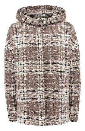 Женское пальто из шерсти и кашемира KITON бежевого цвета, арт. D50430K01T17 | Фото 1