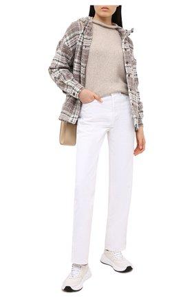 Женское пальто из шерсти и кашемира KITON бежевого цвета, арт. D50430K01T17 | Фото 2