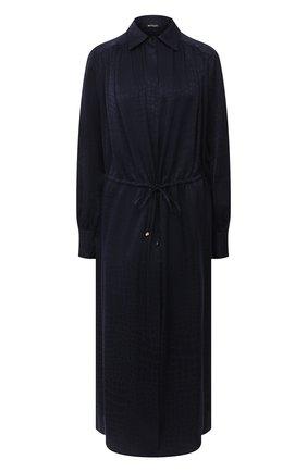 Женское шелковое платье KITON синего цвета, арт. D50329K05T65 | Фото 1