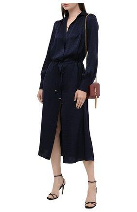 Женское шелковое платье KITON синего цвета, арт. D50329K05T65 | Фото 2