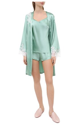 Женская шелковая пижама MARJOLAINE светло-зеленого цвета, арт. ODON-3SOI5003 | Фото 1