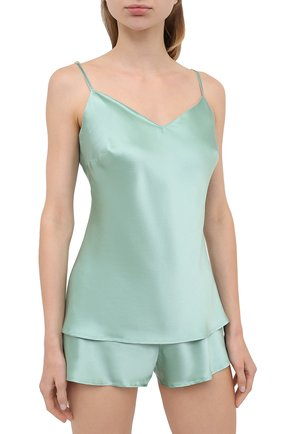 Женская шелковая пижама MARJOLAINE светло-зеленого цвета, арт. ODON-3SOI5003 | Фото 2