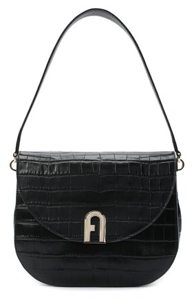Женская сумка sleek FURLA черного цвета, арт. BAWHABR/KO0000 | Фото 1