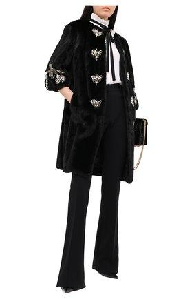 Женская шуба из меха норки DOLCE & GABBANA черного цвета, арт. 0102/F0P25F/FUPLH | Фото 2