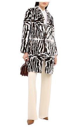 Женская шуба из меха норки VALENTINO черно-белого цвета, арт. NF3FA300/1CF | Фото 2