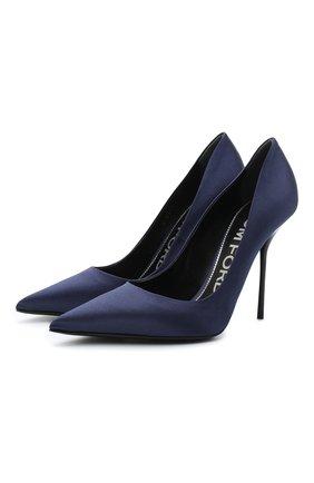 Женская текстильные туфли TOM FORD синего цвета, арт. W2524R-TSA001 | Фото 1