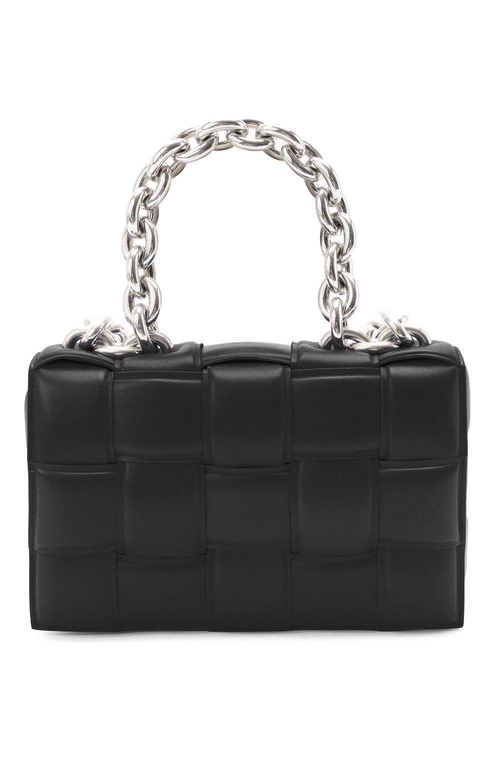Женская сумка chain cassette BOTTEGA VENETA черного цвета, арт. 631421/VBWZ0 | Фото 1