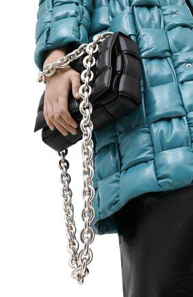 Женская сумка chain cassette BOTTEGA VENETA черного цвета, арт. 631421/VBWZ0 | Фото 2