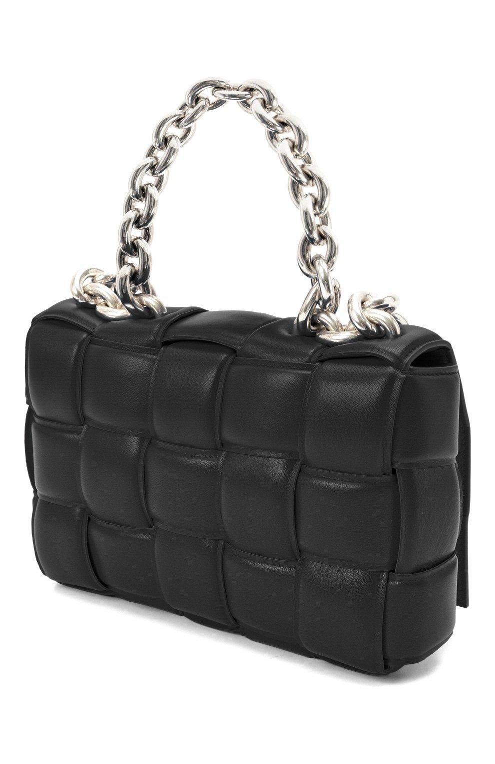 Женская сумка chain cassette BOTTEGA VENETA черного цвета, арт. 631421/VBWZ0 | Фото 3