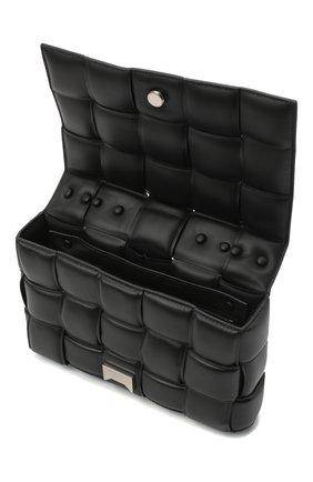 Женская сумка chain cassette BOTTEGA VENETA черного цвета, арт. 631421/VBWZ0 | Фото 4
