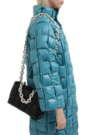 Женская сумка chain cassette BOTTEGA VENETA черного цвета, арт. 631421/VBWZ0 | Фото 5