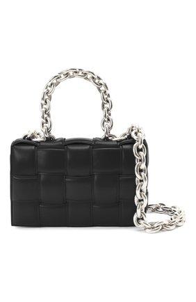 Женская сумка chain cassette BOTTEGA VENETA черного цвета, арт. 631421/VBWZ0 | Фото 6