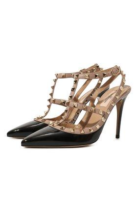 Женская кожаные туфли valentino garavani rockstud VALENTINO черного цвета, арт. UW2S0393/VNW | Фото 1