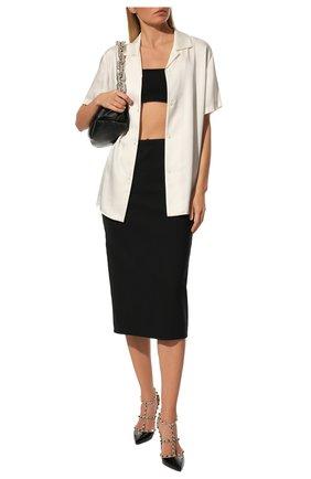 Женская кожаные туфли valentino garavani rockstud VALENTINO черного цвета, арт. UW2S0393/VNW | Фото 2