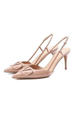 Женская кожаные туфли valentino garavani vlogo VALENTINO розового цвета, арт. UW2S0R01/TMK | Фото 1
