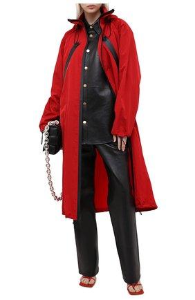 Женский плащ BOTTEGA VENETA красного цвета, арт. 632742/VKV20 | Фото 2