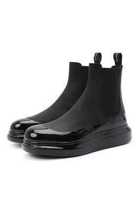 Мужские кожаные челси ALEXANDER MCQUEEN черного цвета, арт. 625182/WHYK1 | Фото 1
