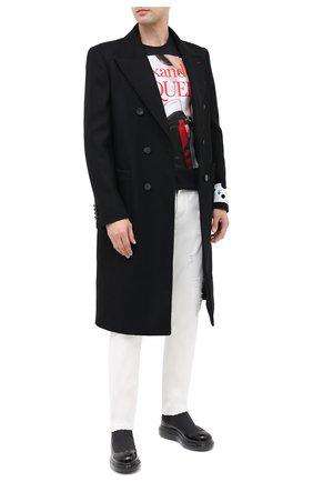 Мужские кожаные челси ALEXANDER MCQUEEN черного цвета, арт. 625182/WHYK1 | Фото 2